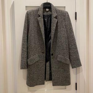 Grey Sweater Jacket Oversized Blazer